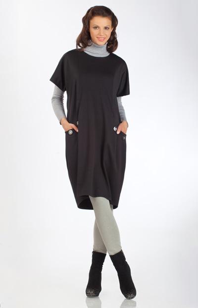 Великолепное универсальное платье-сарафан свободного покроя.