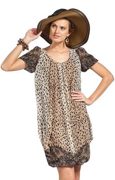 Великолепное шифоновое платье на